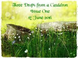 Three Drops from a Cauldron - Issue One